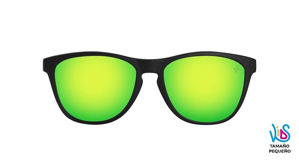 Gafas de sol baratas de calidad para niños Kids negra lente verde